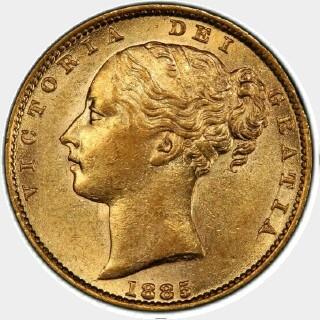 1885-S  Full Sovereign obverse