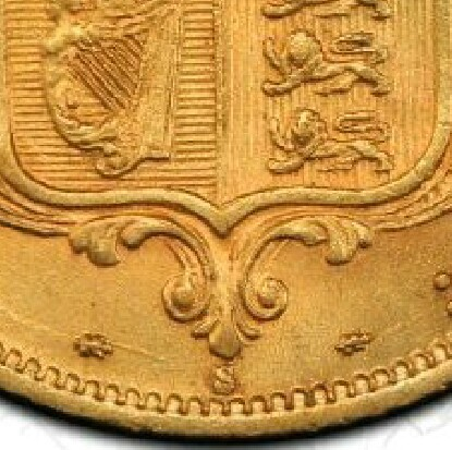 The S mintmark under the shield