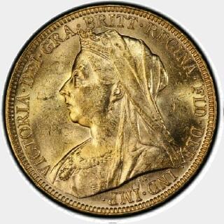 1897-M  Full Sovereign obverse