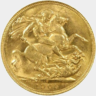 1905-S  Full Sovereign reverse
