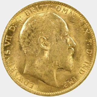 1905-S  Full Sovereign obverse