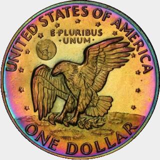 1974-S Proof Dollar reverse