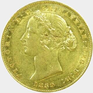 1859  Full Sovereign obverse