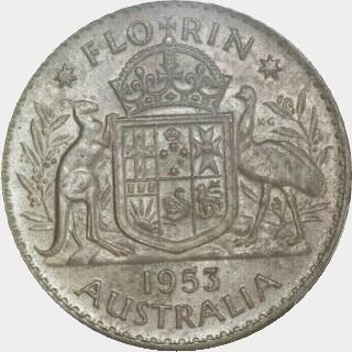 1953  Florin reverse