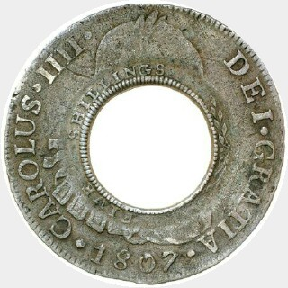 1813 1799 | Madrid Holey Dollar obverse