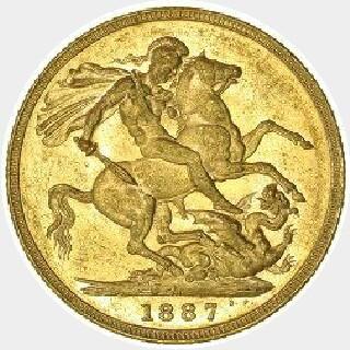 1891-M Short Tail Full Sovereign reverse