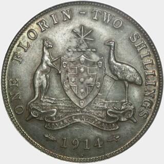 1914-H  Florin reverse