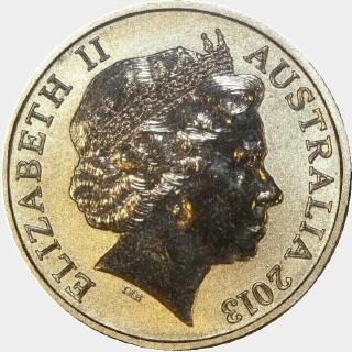 2013  One Dollar obverse