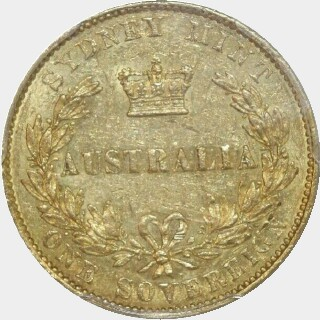 1856  Full Sovereign reverse