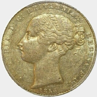 1856  Full Sovereign obverse