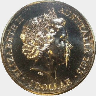 2015  One Dollar obverse