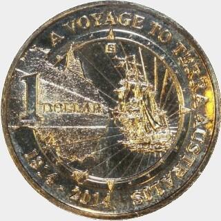 2014-S  One Dollar reverse