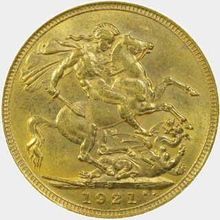 1921-S  Full Sovereign reverse