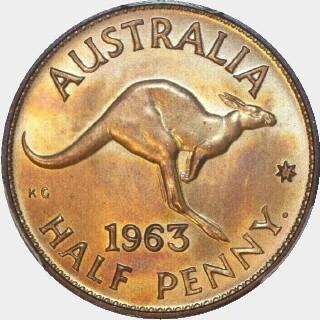 1963-Y Proof Half Penny reverse