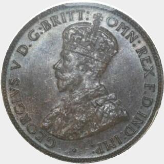1933/2 Overdate Half Penny obverse