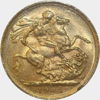 1904-S  Full Sovereign reverse