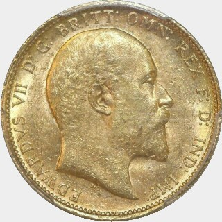 1904-S  Full Sovereign obverse