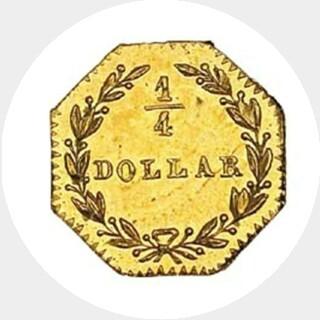 1881  Quarter Dollar reverse