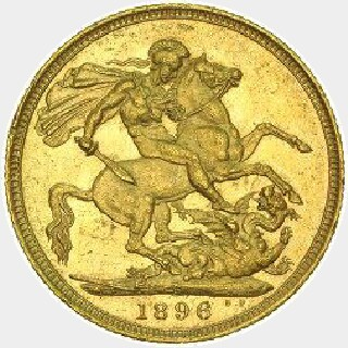 1893-S Plain Edge Proof Full Sovereign reverse