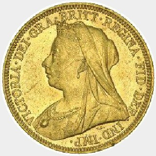 1901-P Proof Full Sovereign obverse