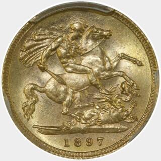 1897-S  Half Sovereign reverse