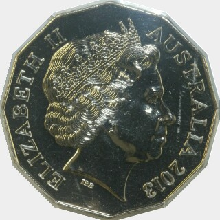 2013  Fifty Cent obverse