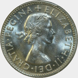 1954  One Shilling obverse