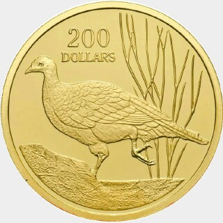 2005 Proof Two Hundred Dollar reverse