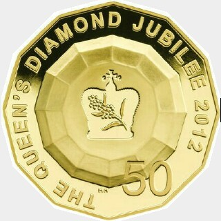 2012 Gold Proof Fifty Cent reverse