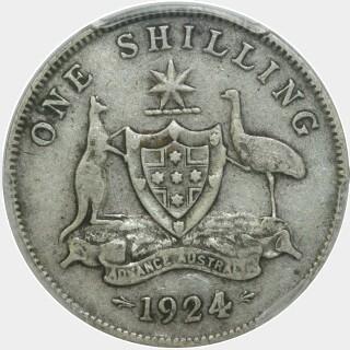 1924  Shilling reverse