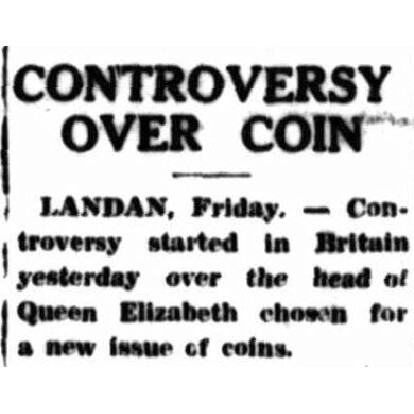 'Controversy over coin' - The Northern Miner, 29th November 1952.