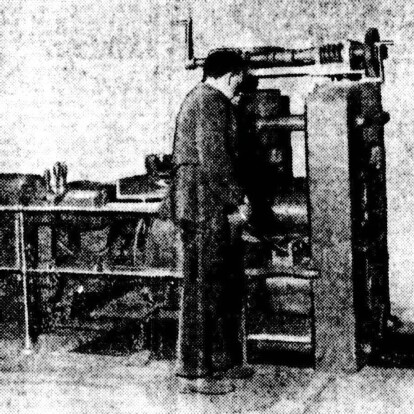 Electric rolling mill at the Royal Mint in 1922