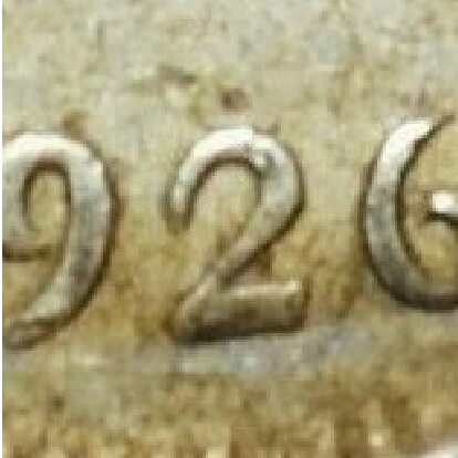 Sans serif variety of the 1926 Sixpence.