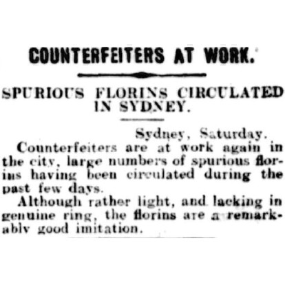 Counterfeiters at Work - Barrier Miner, 4th March 1912.