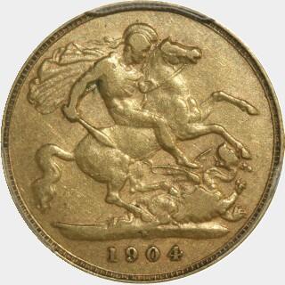 1904-P  Half Sovereign reverse
