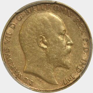 1904-P  Half Sovereign obverse