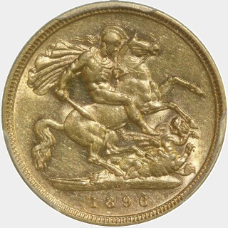 1896-M  Half Sovereign reverse
