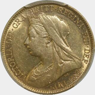1896-M  Half Sovereign obverse