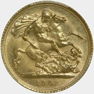 1902-S  Half Sovereign reverse