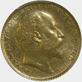 1902-S  Half Sovereign obverse