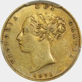 1871-S  Half Sovereign obverse