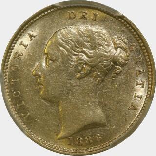 1886-S  Half Sovereign obverse