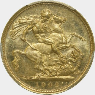 1902-S  Full Sovereign reverse