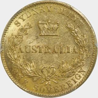 1868 Gold|Silver Full Sovereign reverse