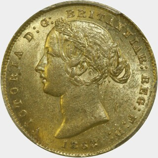 1868 Gold|Silver Full Sovereign obverse
