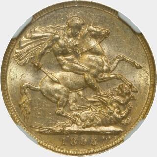1895-M  Full Sovereign reverse