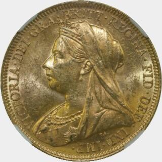 1895-M  Full Sovereign obverse