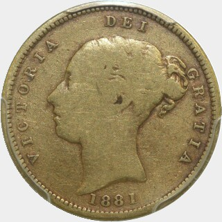 1881-M Low Relief Half Sovereign obverse
