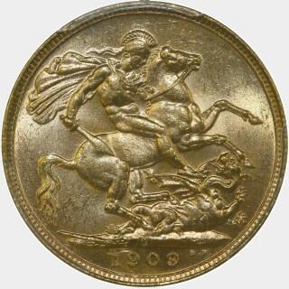 1909-S  Full Sovereign reverse