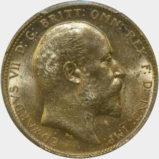 1909-S  Full Sovereign obverse